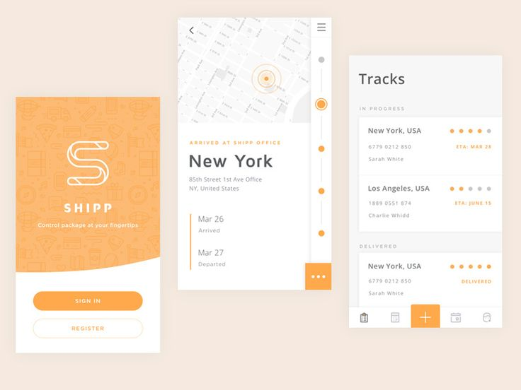 Delivery scheduling and order tracking (should always include a map)