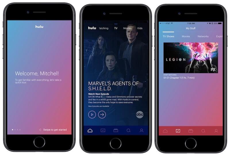 Onboarding in the Hulu app