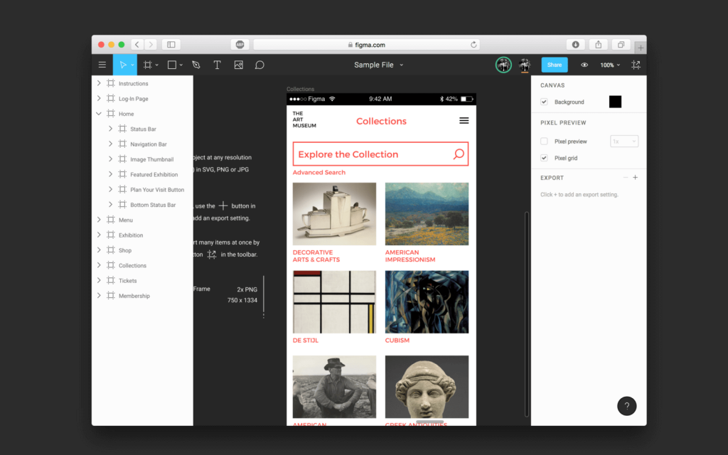 Figma prototyping app